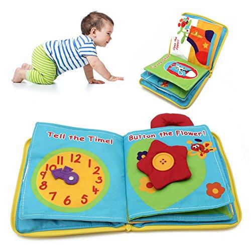 Vivianu Stoffbuch für Babys, Intelligenz, Lernen, 12 Seiten, Spielzeug (Tischsets Für Das Lernen)