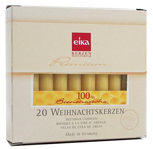 100 Stück Baumkerzen 100% Bienenwachs Christbaumkerzen 5 Packungen á 20 Stk.