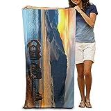 vbndgfhjd Bath Towel Wild Horses Pattern Creative Patterned Soft Beach Towel 31'x 51'...