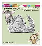 Unbekannt Stampendous Gummi House Maus Selbst Stempel 3,5x 4-Zoll, Duft von lila