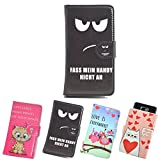ikracase Slide Motiv Hülle für Medion Life E5008 Smartphone Handytasche Handyhülle Schutzhülle Tasche Case Cover Etui Design 2 - fass mein Handy nicht an