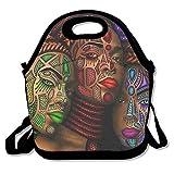 ziHeadwear Cool Weed Skull Black Neoprene Lunch Bag Insulated Lunch Box Tote for Women Men Adult Kids Teens Boys Teenage Girls Toddlers (Black)