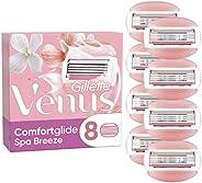 Gillette Venus Comfortglide Spa Breeze 2-i-1 Rakblad för Kvinnor, Paket med 8