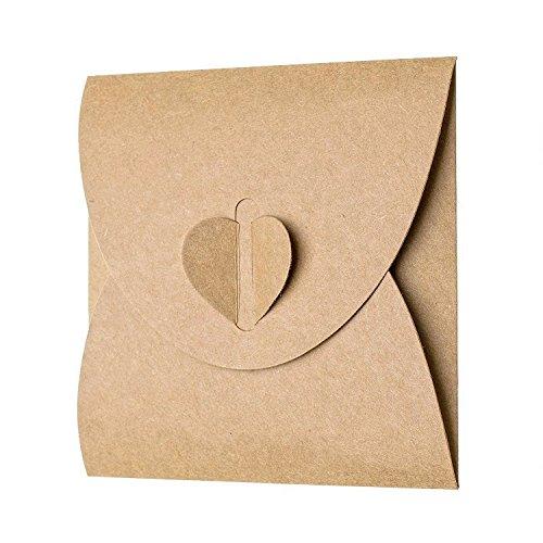 Kraftpapier Briefumschläge | 50 Stück - 2