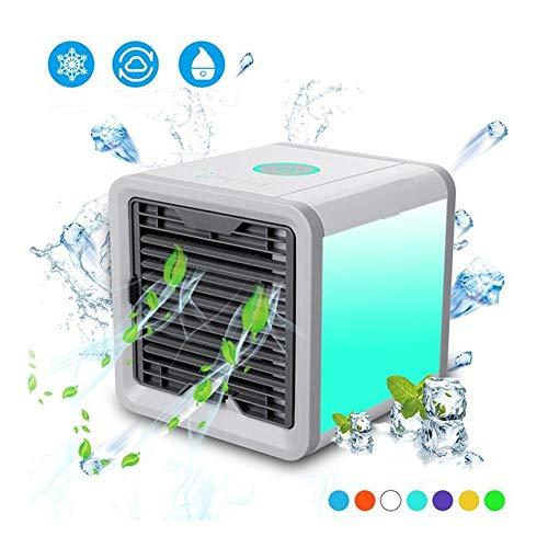 CRMY USB Mobile Klimaanlage, Persönlicher Mini Klimageräte Luftkühler Ventilator Mini Luftkühler 3 in 1 Mobil Klimagerät Luftbefeuchter für Zuhause, Büro, Hotel