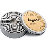 kayaso redondo moldes para galletas, acero inoxidable, Set de 11 pc