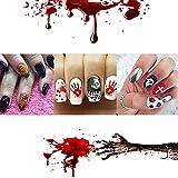 Größe Nagelsticker Nail Sticker Tattoo Kunstnägel Dekoration Nagelaufkleber bunte Nagelsticker Weihnachten Halloween (schwarz)4 pcs