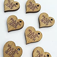 Personalised Lucky Love Hearts Bridal Wedding Favours and Table Sprinkles Confetti - Good luck charm