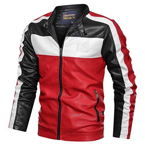 Xmiral Giacca Sportiva Felpa Giacca Giacche Moto Uomo Estive Giacca Pullover Gilet con Cappuccio Smoking Giacca Blazer Uomo Elegante Blazer Business Tops Outwear Donna (3XL,4- Nero)