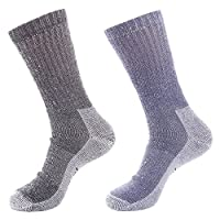 Laulax Mens 2 Pairs of Finest Wool Winter Socks, Black, Navy, Size UK 7-11 / Europe 40-46
