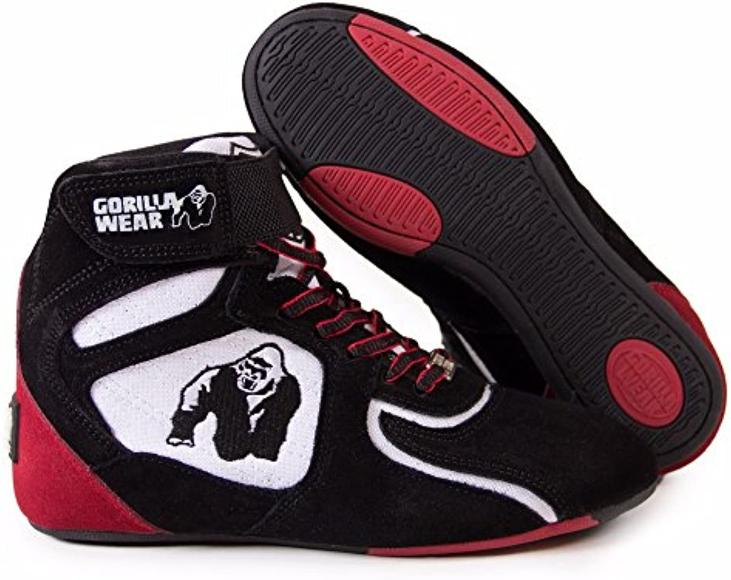Gorilla Wear Chicago High Tops Black / White / Red   Limited Edition  EU 47
