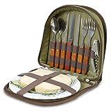 Picknick Set für 2 - Kompakter Ranzen um den Korb