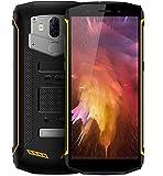 Blackview BV5800 PRO - 5.5 Zoll HD + (18: 9 Verhältnis) IP68 wasserdicht/stoßfest Android 8.1 Smartphone, 1,5 GHz Quad Core 2GB + 16GB, 5580mAh Akku kabellose Ladeunterstützung- Gelb