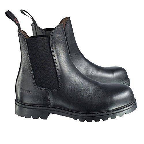 Horze Safety Jodhpur Stiefel, Junior Black(BL)