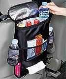 Kabalo Asiento de coche Organizador / Ordenado con aislamiento de un bolso más fresco y dispensador de papel, bebidas titular nevera refrigerador