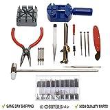 Acenix - Kit de herramientas para reparación de relojes de coche, 124 piezas, con apertura de carcasa, extractor de pines de resortes