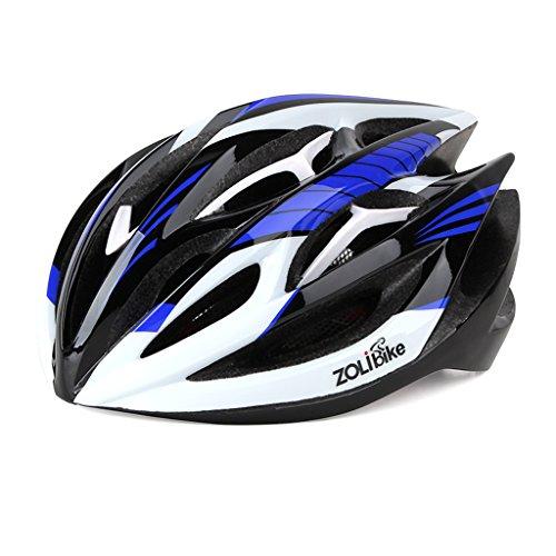 255g Poids ultra léger - Casque Super-léger Super-léger en vélo, casque de vélo léger et modulaire réglable pour hommes et femmes - Confortable, léger, respirant ( Color : Blue )