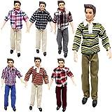 Kitty princess Puppenkleidung 3 Sätze von Casual Plaid Kleidung für Barbie Freund Ken (zufällig)