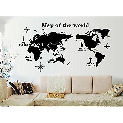 ufengke® Mapa Del Mundo Pegatinas de Pared,