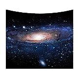 Tapiz Cielo Estrellado Galaxia Tapices Colgar en la Pared Manta de Playa Esterilla de Yoga Decoración para el Hogar(150cmx102cm)