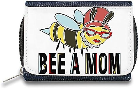 Bee A Mom Pochette à glissière Bourse Zipper Wallet| The