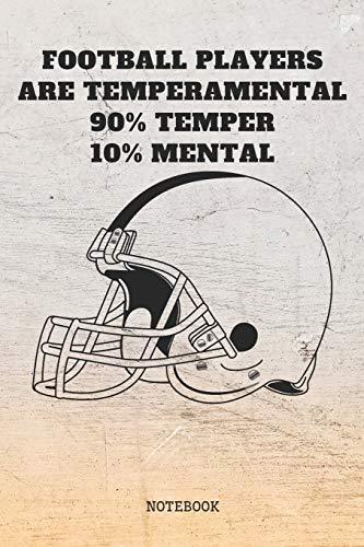 "Notebook: American Football Game Nerd Planner / Organizer / Lined Notebook (6\"" x 9\"")"