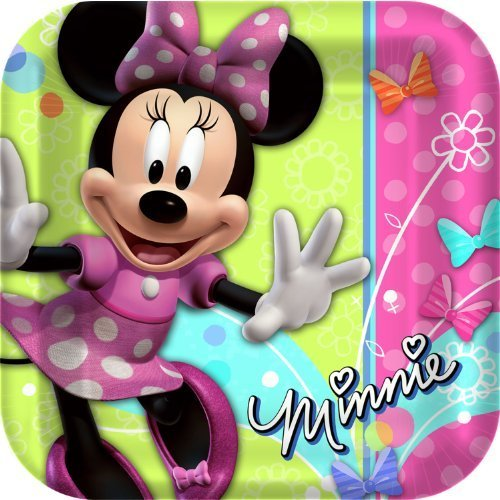 minnie-mouse-party-plates-minnie-square-paper-dinner-plates-8-count-by-hallmark-toy-english-manual