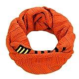 Blancho Netter Strickschal Warmer Loop-Schals Halstücher für Kinder, orange