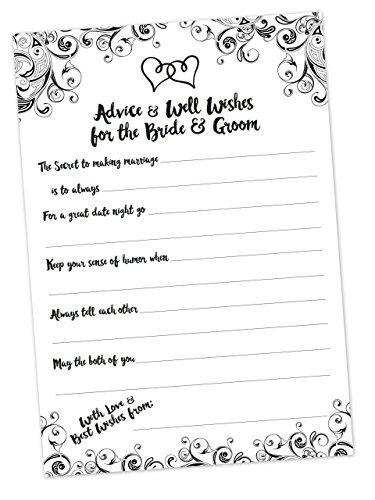 Beratung und gut Wishes Karten für die Braut und Bräutigam-Bridal Dusche Spiel-Hochzeit Beratung Karten-50Zählen