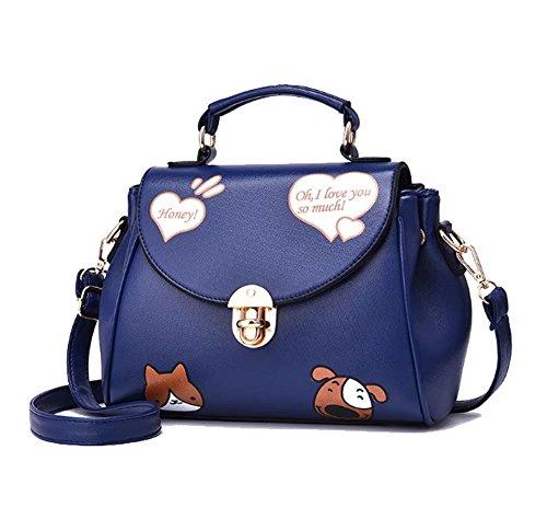 51KaCvZCOcL BEST BUY #1Fanova Lovely Sweet Heart Female PU Cross Body Bag Cute Cartoon Printing Buckle Flap Shoulder Handbags price Reviews uk