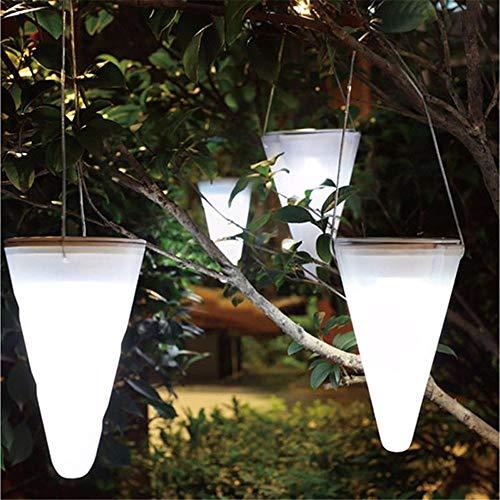 pyty123 Wasserdichte Garten-Garten-Leuchter-Garten-Landschafts-Licht-Leuchter-Kegel-Led Hängendes Licht