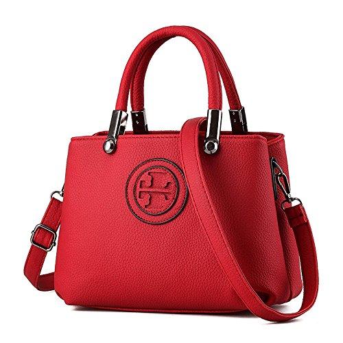 GBT 2016 Art- und Weisedame-Beutel-Handtaschen-Schulter-Beutel big red