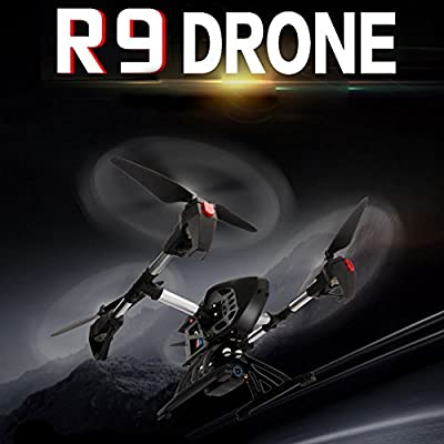 wlgreatsp R9 Real-time Transmission Drone with FPV 1080P HD WIFI Camera,4 Crown High Operating Motors, Bass Simultaneous
