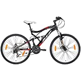 """KCP 26"""" MOUNTAIN BIKE BICYCLE ATTACK 21 speed SHIMANO UNISEX black - (26 inch)"""