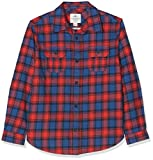 Fat Face Boy's Daniel Multi Square Shirt, (Slate Blue Blu), Years (Size: 6-7)