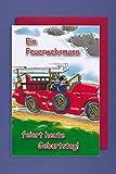 AvanCarte GmbH Feuerwehrmann Geburtstag Karte Grußkarte Löschzug Foliendruck 16x11cm