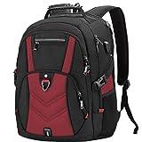 NEWHEY Zaino Porta PC Zaini Lavoro Uomo Notebook Laptop Borsa 17 17,3 Pollici Impermeabile con USB Zainetto da Viaggio Scuola Affari Grand (Rosso)