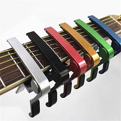 KING DO WAY Aluminium Metal Kapodaster Capodaster für akustische und elektrische Gitarren Gold
