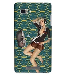 Fuson 3D Printed Girly Designer back case cover for Lenovo K910 - D4601