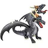 Bullyland - Bullyland Fantasy figurine Dragon à 2 têtes (noir) 13 cm by Bullyland