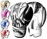 ONEX Guantoni da Boxe per Bambini Punzonatura dei Guanti Lotta di MMA Guanti Kickboxing Allenamento Arti Marziali Boxing Glove 6oz (Black)