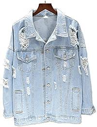 Jeansjacke mit lochern