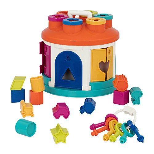 Battat - Buntes Formensortierspiel Haus - Spielzeug zum Sortieren von Farben mit 6 Schlüsseln und 12 Formen für Kinder ab 2 Jahren (14 Teile)