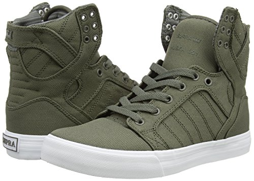 Supra  SKYTOP, Baskets hautes mixte adulte Vert - Grün (DUSTY OLIVE - WHITE   DOV)