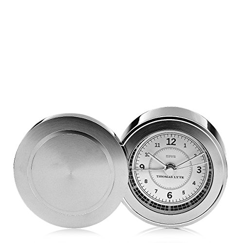 wells-single-face-clock-silver-plate-white