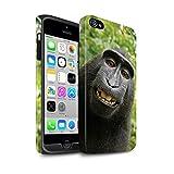Stuff4 Coque Matte Robuste Antichoc de Coque pour Apple iPhone 4/4S / Selfie Babouin...