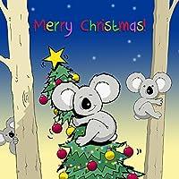 twizler Merry Christmas card con Koala orso e albero di Natale–Buon Natale di Natale–auguri di Natale, divertente Pepper–Biglietti di Natale, biglietto di Natale di Natale per uomo, femmina–maschio biglietto di Natale