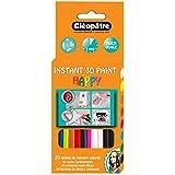 Cléopâtre PO20RPC Boîte de 20 Bâtons de peinture pour CLEOGUN Synthétique/Cire Transparent 8,5 x 2 x 18 cm