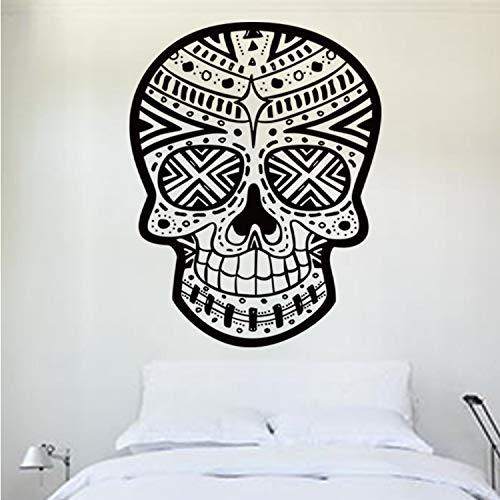 qazwsx Halloween Skeleton Hintergrund Dekoriert Wohnzimmer Schlafzimmer DIY Wandaufkleber wasserdichte Tapete Kunst Wandbild Dekoration Fertige Größe 57X75 cm (Dekoriert Kuchen Halloween)