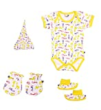 NeedyBee Newborn Combo Set of 1 Yellow a...